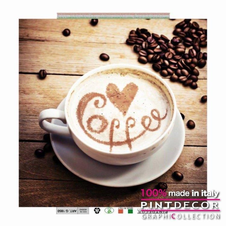 デコレーションパネル PINTDECOR グラフィコレクション ITALIAN COFFEE G1850|ピントデコール イタリア アートパネル ウォールデコ ペインティング 絵画 リビング インテリア デザイン モダン ホテルライク 新居 イタリア直輸入