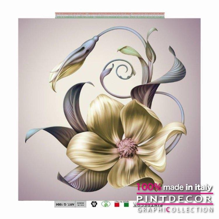 デコレーションパネル PINTDECOR グラフィコレクション FIORI MOSSI DAL VENTO G1994|ピントデコール イタリア アートパネル ウォールデコ ペインティング 絵画 リビング インテリア デザイン モダン ホテルライク 新居 イタリア直輸入