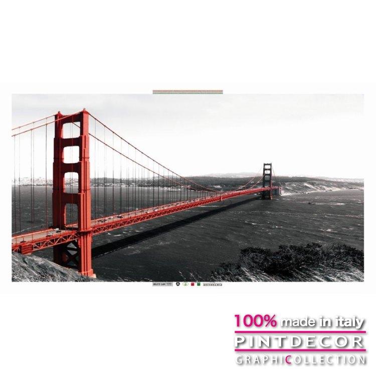 デコレーションパネル PINTDECOR グラフィコレクション GOLDEN GATE BRIDGE G2100|ピントデコール イタリア アートパネル ウォールデコ ペインティング 絵画 リビング インテリア デザイン モダン ホテルライク 新居 イタリア直輸入