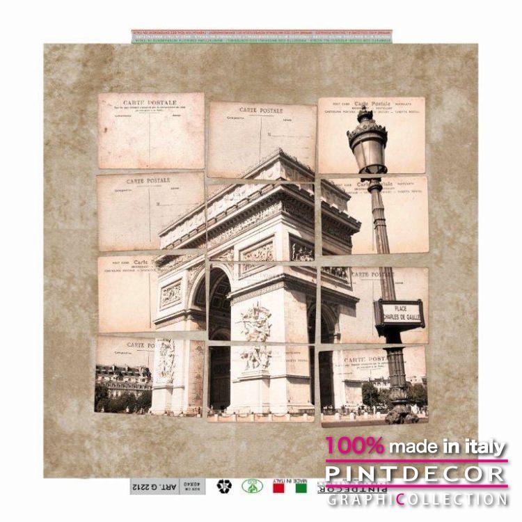 デコレーションパネル PINTDECOR グラフィコレクション ARCO DI TRIONFO G2212|ピントデコール イタリア アートパネル ウォールデコ ペインティング 絵画 リビング インテリア デザイン モダン ホテルライク 新居 イタリア直輸入