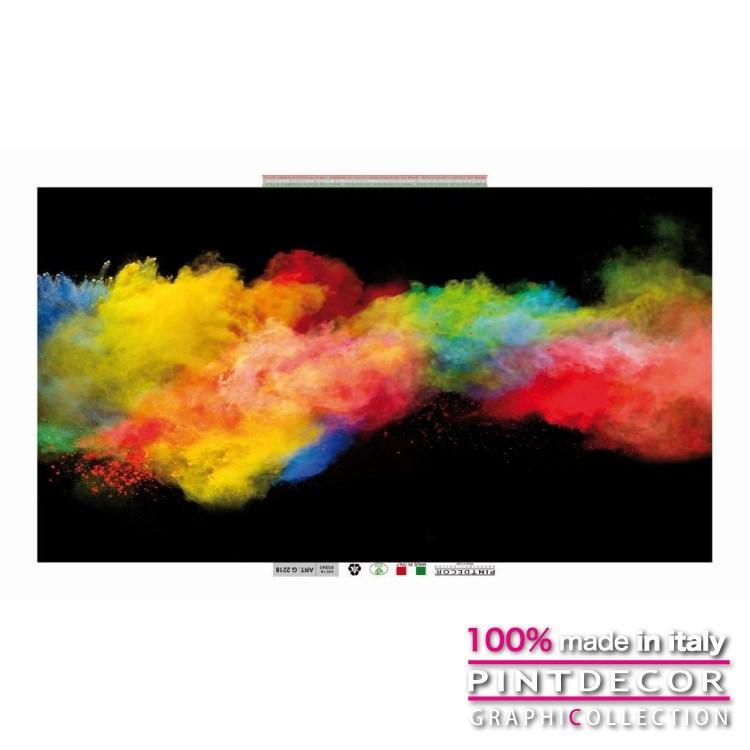 デコレーションパネル PINTDECOR グラフィコレクション FUMO COLORATO G2218 ピントデコール イタリア アートパネル ウォールデコ ペインティング 絵画 リビング インテリア デザイン モダン ホテルライク 新居 イタリア直輸入