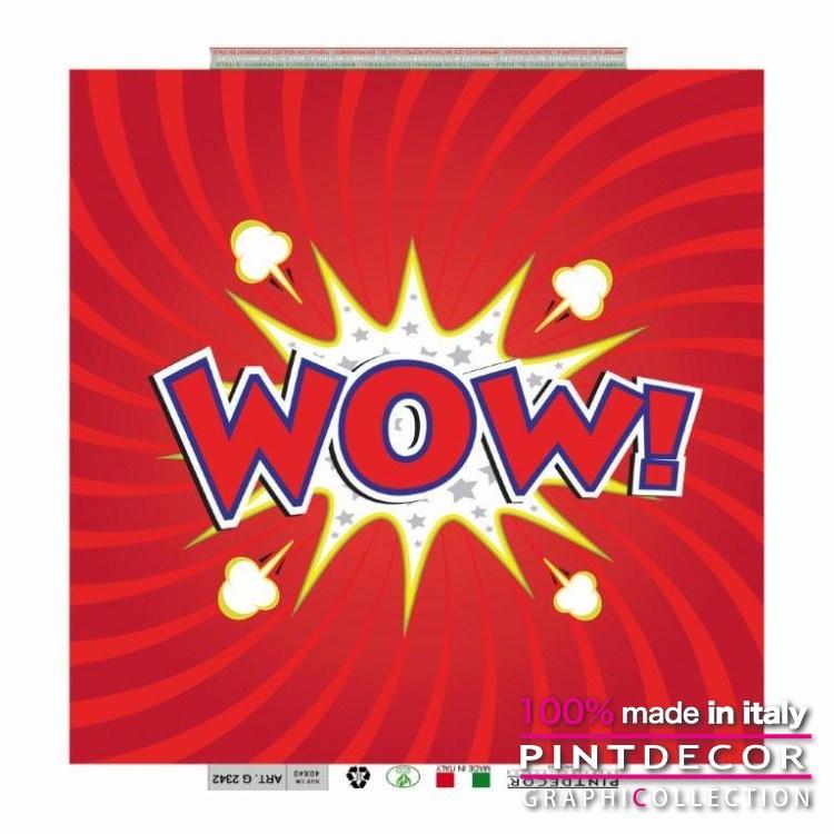 デコレーションパネル PINTDECOR グラフィコレクション WOW G2342|ピントデコール イタリア アートパネル ウォールデコ ペインティング 絵画 リビング インテリア デザイン モダン ホテルライク 新居 イタリア直輸入