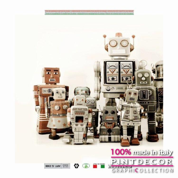 デコレーションパネル PINTDECOR グラフィコレクション ROBOT 2G2368|ピントデコール イタリア アートパネル ウォールデコ ペインティング 絵画 リビング インテリア デザイン モダン ホテルライク 新居 イタリア直輸入