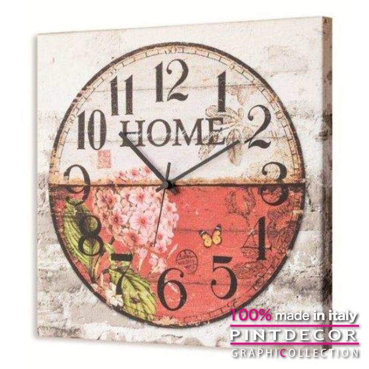 ウォールクロック PINTDECOR グラフィコレクション HOME G2430|ピントデコール イタリア アート クロック 壁時計 リビング インテリア デザイン モダン ホテルライク 新居 イタリア直輸入