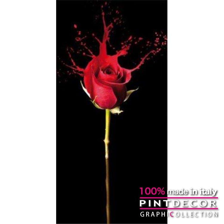 デコレーションパネル PINTDECOR グラフィコレクション RED FLUID G2500|ピントデコール イタリア アートパネル ウォールデコ ペインティング 絵画 リビング インテリア デザイン モダン ホテルライク 新居 イタリア直輸入