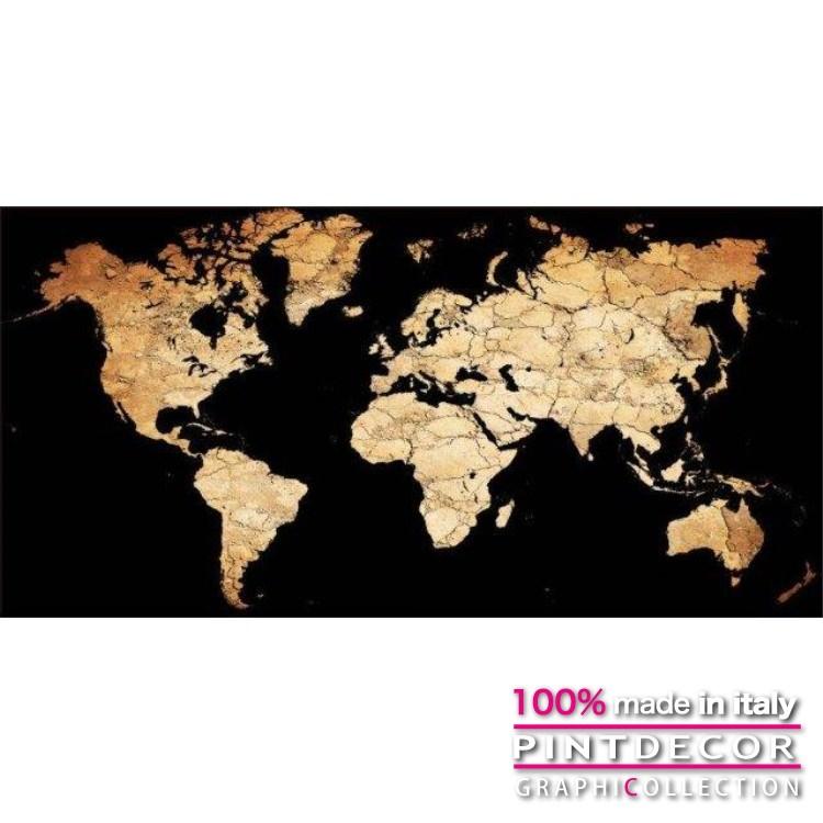 デコレーションパネル PINTDECOR グラフィコレクション PLANISFERO G2604|ピントデコール イタリア アートパネル ウォールデコ ペインティング 絵画 リビング インテリア デザイン モダン ホテルライク 新居 イタリア直輸入