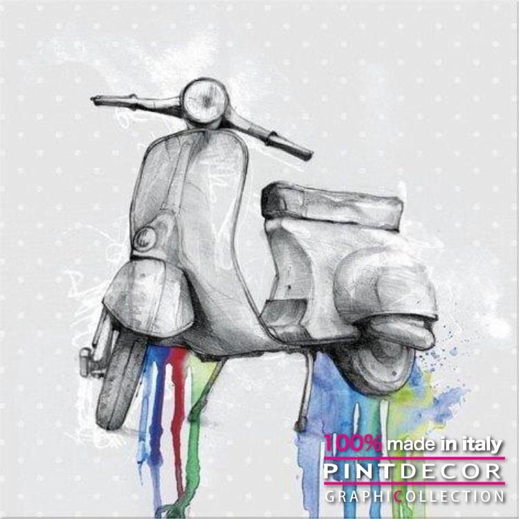 デコレーションパネル PINTDECOR グラフィコレクション VESPA 50 G2964|ピントデコール イタリア アートパネル ウォールデコ ペインティング 絵画 リビング インテリア デザイン モダン ホテルライク 新居 イタリア直輸入