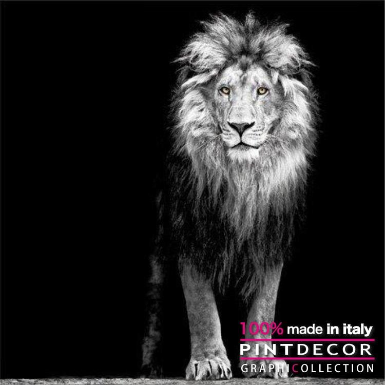 デコレーションパネル PINTDECOR グラフィコレクション IL RE LEONE G3298|ピントデコール イタリア アートパネル ウォールデコ ペインティング 絵画 リビング インテリア デザイン モダン ホテルライク 新居 イタリア直輸入