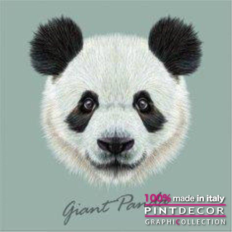 デコレーションパネル PINTDECOR グラフィコレクション GIANT PANDA G3382 ピントデコール イタリア アートパネル ウォールデコ ペインティング 絵画 リビング インテリア デザイン モダン ホテルライク 新居 イタリア直輸入