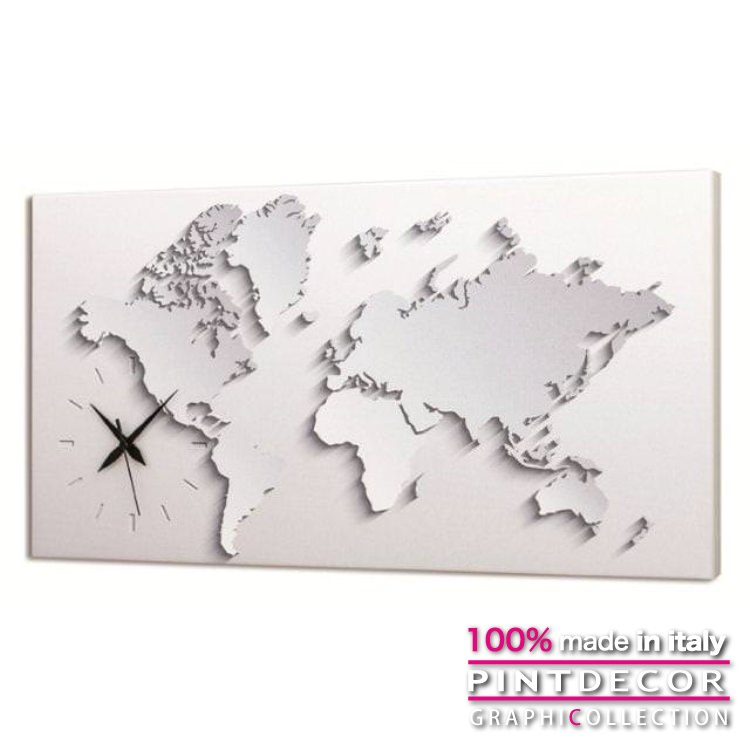 ウォールクロック PINTDECOR グラフィコレクション 3D GLOBE G3572|ピントデコール イタリア アート クロック 壁時計 リビング インテリア デザイン モダン ホテルライク 新居 イタリア直輸入