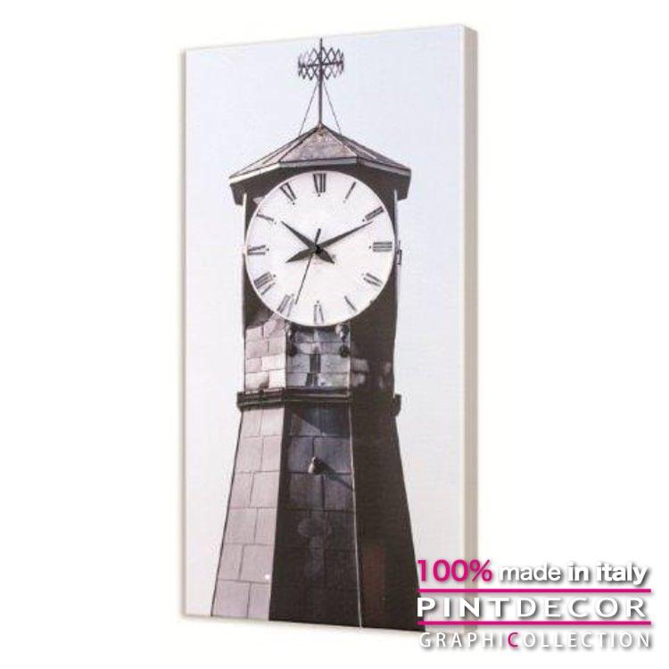 ウォールクロック PINTDECOR グラフィコレクション IL FARO G3612|ピントデコール イタリア アート クロック 壁時計 リビング インテリア デザイン モダン ホテルライク 新居 イタリア直輸入