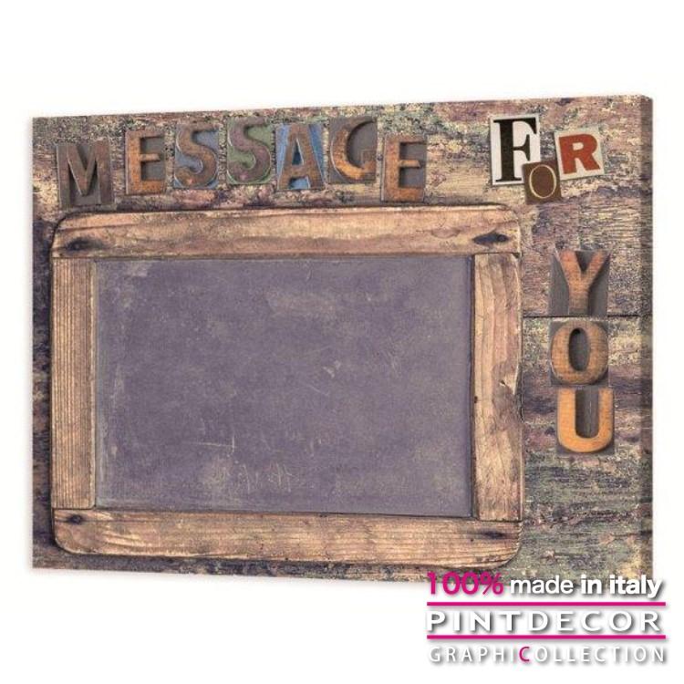 マグネット付きパネル PINTDECOR グラフィコレクション MESSAGE FOR YOU G3636|ピントデコール イタリア アートパネル ウォールデコ ペインティング 絵画 リビング インテリア デザイン モダン ホテルライク 新居 イタリア直輸入