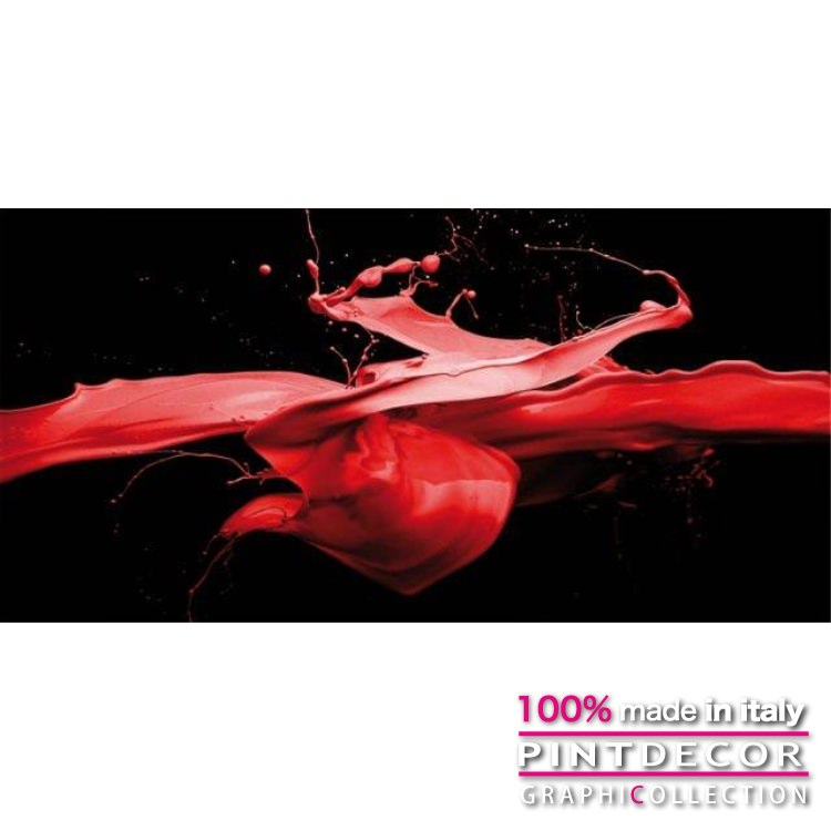 デコレーションパネル PINTDECOR グラフィコレクション SPLASH ROSSO G3694 ピントデコール イタリア アートパネル ウォールデコ ペインティング 絵画 リビング インテリア デザイン モダン ホテルライク 新居 イタリア直輸入