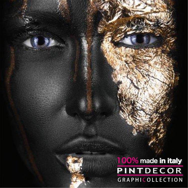 デコレーションパネル PINTDECOR グラフィコレクション ORO NERO G3794|ピントデコール イタリア アートパネル ウォールデコ ペインティング 絵画 リビング インテリア デザイン モダン ホテルライク 新居 イタリア直輸入