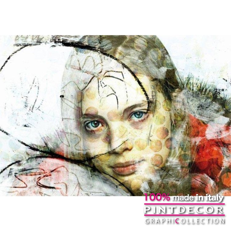 デコレーションパネル PINTDECOR グラフィコレクション LITTLE GIRL G3858|ピントデコール イタリア アートパネル ウォールデコ ペインティング 絵画 リビング インテリア デザイン モダン ホテルライク 新居 イタリア直輸入