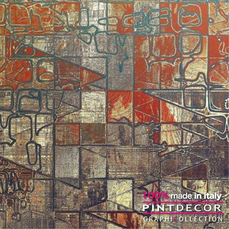 デコレーションパネル PINTDECOR グラフィコレクション MATTONELLE G3972|ピントデコール イタリア アートパネル ウォールデコ ペインティング 絵画 リビング インテリア デザイン モダン ホテルライク 新居 イタリア直輸入