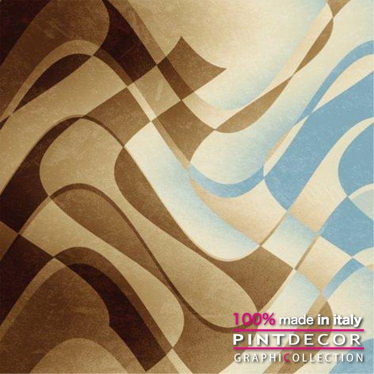 デコレーションパネル PINTDECOR グラフィコレクション ONDULATO G3982|ピントデコール イタリア アートパネル ウォールデコ ペインティング 絵画 リビング インテリア デザイン モダン ホテルライク 新居 イタリア直輸入