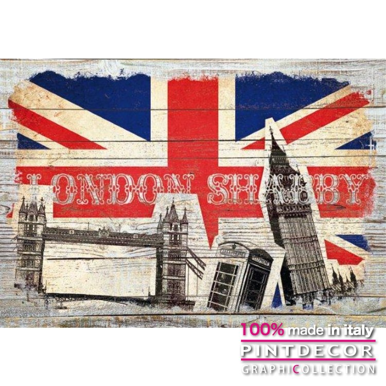 デコレーションパネル PINTDECOR グラフィコレクション LONDON SHABBY G4010|ピントデコール イタリア アートパネル ウォールデコ ペインティング 絵画 リビング インテリア デザイン モダン ホテルライク 新居 イタリア直輸入