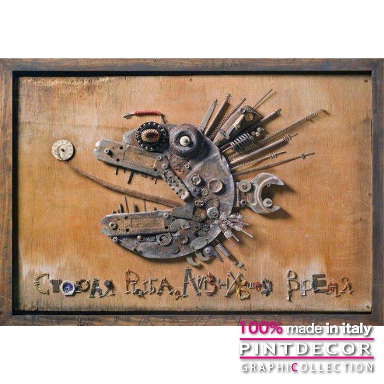 デコレーションパネル PINTDECOR グラフィコレクション PESCE DI FERRO G4072 ピントデコール イタリア アートパネル ウォールデコ ペインティング 絵画 リビング インテリア デザイン モダン ホテルライク 新居 イタリア直輸入