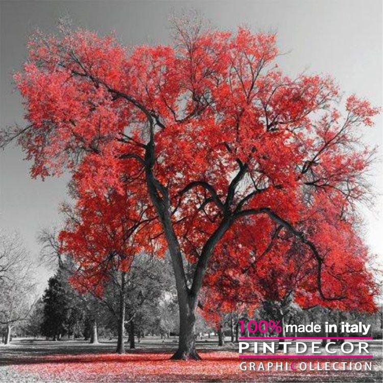 デコレーションパネル PINTDECOR グラフィコレクション BIG RED TREE G4126|ピントデコール イタリア アートパネル ウォールデコ ペインティング 絵画 リビング インテリア デザイン モダン ホテルライク 新居 イタリア直輸入