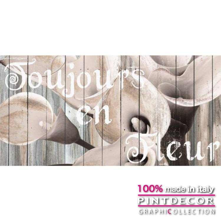 デコレーションパネル PINTDECOR グラフィコレクション TOUJOURS EN FLEUR G4246|ピントデコール イタリア アートパネル ウォールデコ ペインティング 絵画 リビング インテリア デザイン モダン ホテルライク 新居 イタリア直輸入