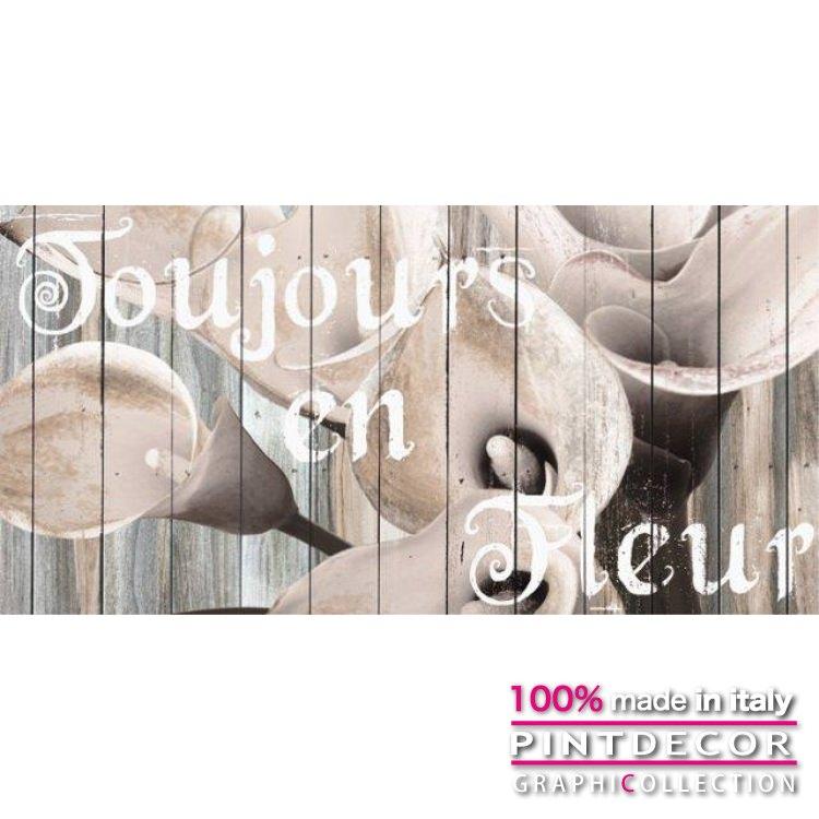 デコレーションパネル PINTDECOR グラフィコレクション TOUJOURS EN FLEUR G4248|ピントデコール イタリア アートパネル ウォールデコ ペインティング 絵画 リビング インテリア デザイン モダン ホテルライク 新居 イタリア直輸入