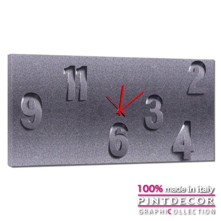 ウォールクロック PINTDECOR グラフィコレクション GRES G4588|ピントデコール イタリア アート クロック 壁時計 リビング インテリア デザイン モダン ホテルライク 新居 イタリア直輸入