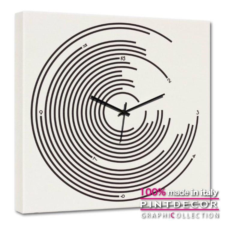 ウォールクロック PINTDECOR グラフィコレクション BERSAGLIO G4602 ピントデコール イタリア アート クロック 壁時計 リビング インテリア デザイン モダン ホテルライク 新居 イタリア直輸入