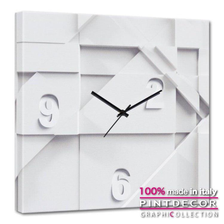 ウォールクロック PINTDECOR グラフィコレクション CARRARA G4606|ピントデコール イタリア アート クロック 壁時計 リビング インテリア デザイン モダン ホテルライク 新居 イタリア直輸入