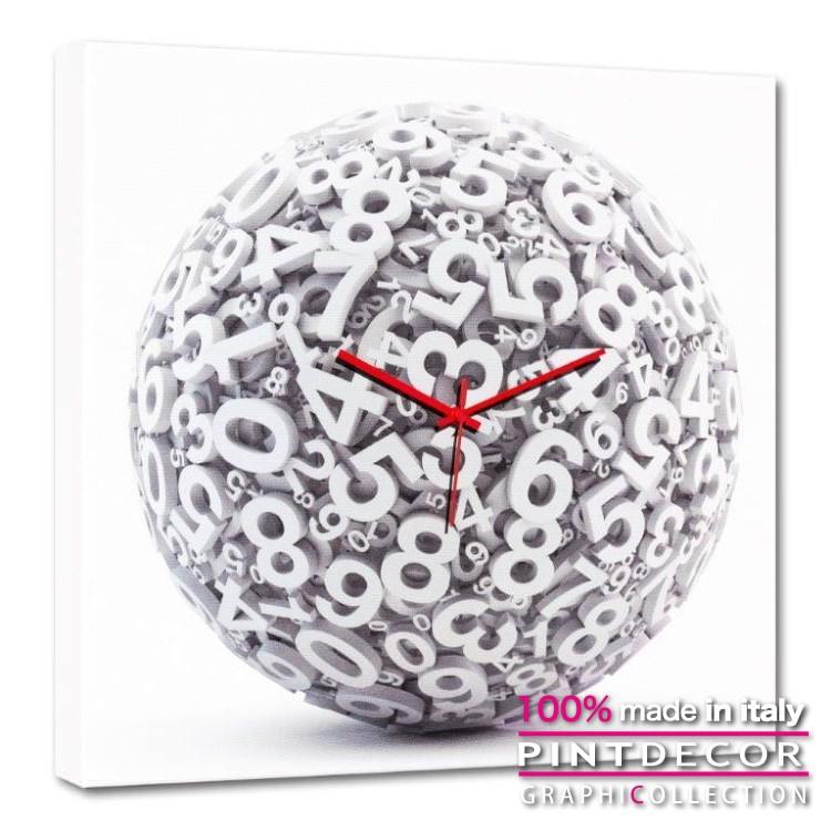 ウォールクロック PINTDECOR グラフィコレクション CAOS G4608|ピントデコール イタリア アート クロック 壁時計 リビング インテリア デザイン モダン ホテルライク 新居 イタリア直輸入