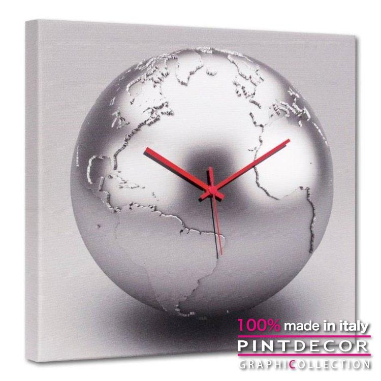 ウォールクロック PINTDECOR グラフィコレクション TERRA D'ARGENTO G4632|ピントデコール イタリア アート クロック 壁時計 リビング インテリア デザイン モダン ホテルライク 新居 イタリア直輸入
