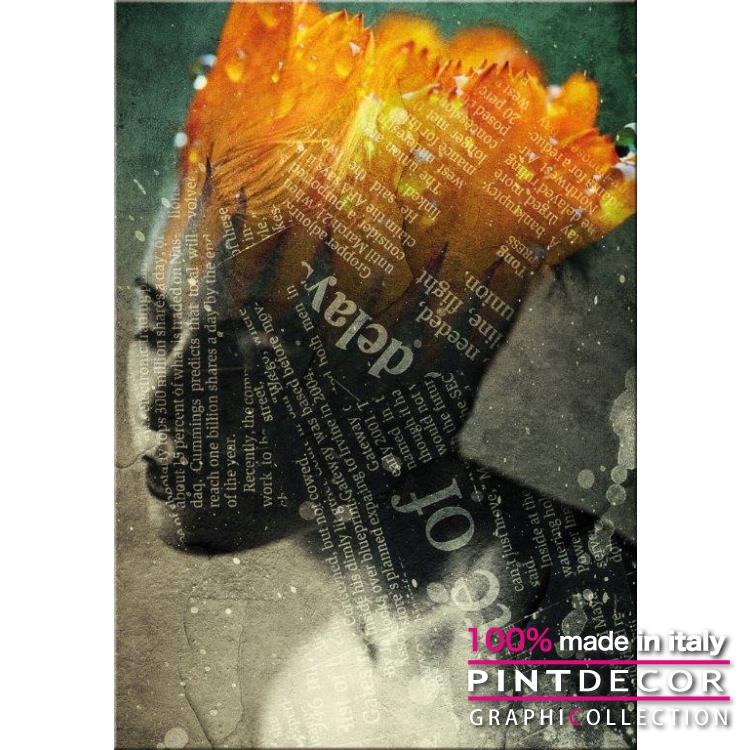 デコレーションパネル PINTDECOR グラフィコレクション SOLO PAROLE G4840|ピントデコール イタリア アートパネル ウォールデコ ペインティング 絵画 リビング インテリア デザイン モダン ホテルライク 新居 イタリア直輸入