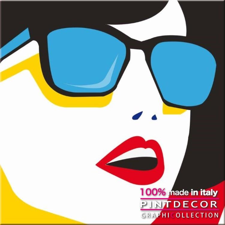 デコレーションパネル PINTDECOR グラフィコレクション POP G4844 ピントデコール イタリア アートパネル ウォールデコ ペインティング 絵画 リビング インテリア デザイン モダン ホテルライク 新居 イタリア直輸入