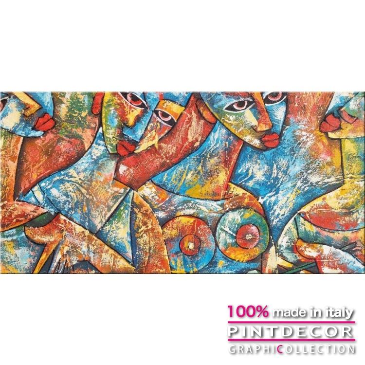 デコレーションパネル PINTDECOR グラフィコレクション TRIBAL WOMEN G4978|ピントデコール イタリア アートパネル ウォールデコ ペインティング 絵画 リビング インテリア デザイン モダン ホテルライク 新居 イタリア直輸入