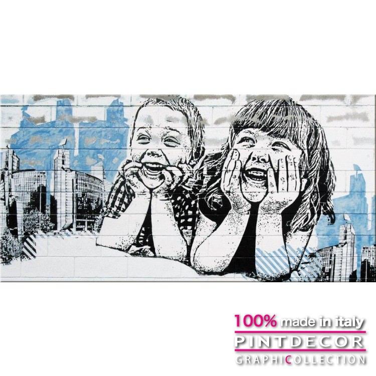 デコレーションパネル PINTDECOR グラフィコレクション SORRISI G5540|ピントデコール イタリア アートパネル ウォールデコ ペインティング 絵画 リビング インテリア デザイン モダン ホテルライク 新居 イタリア直輸入