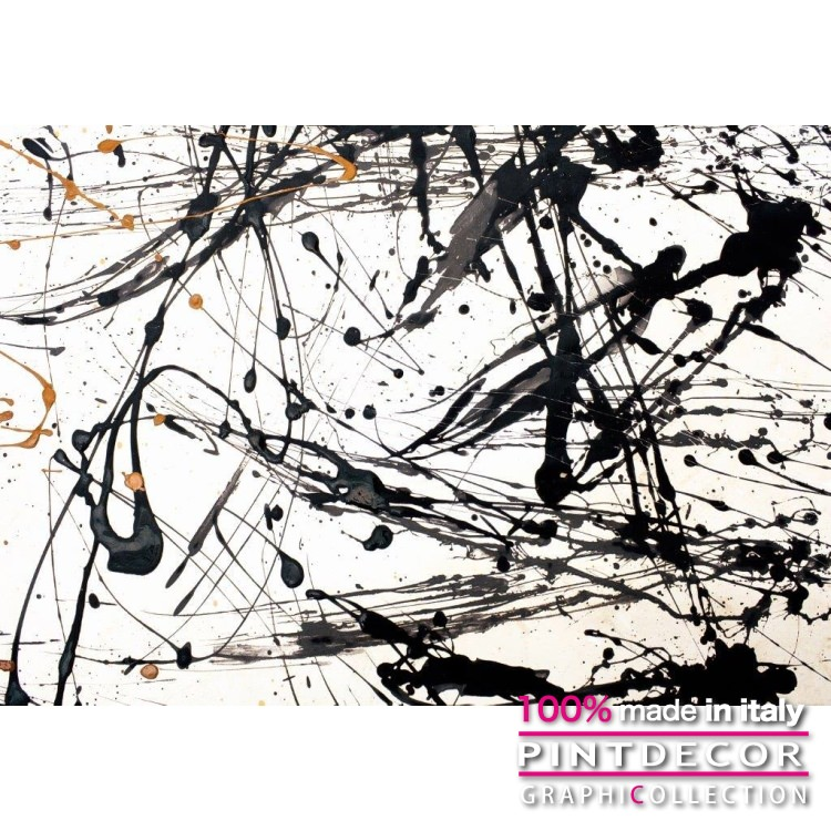 デコレーションパネル PINTDECOR グラフィコレクション POLLOK G5718|ピントデコール イタリア アートパネル ウォールデコ ペインティング 絵画 リビング インテリア デザイン モダン ホテルライク 新居 イタリア直輸入
