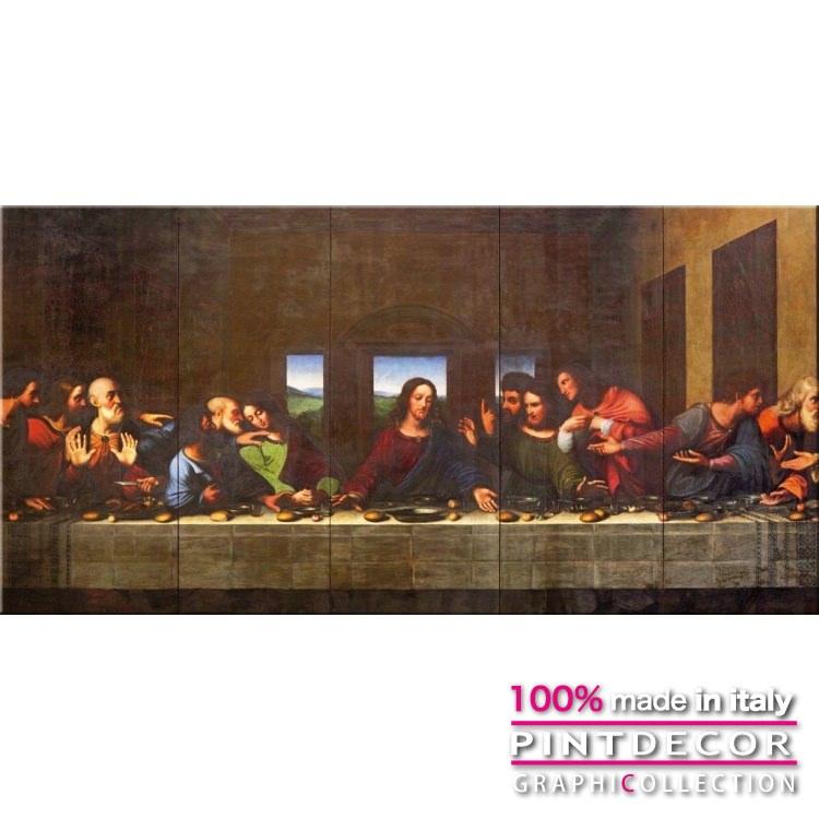 デコレーションパネル PINTDECOR グラフィコレクション L'ULTIMA CENA G6024|ピントデコール イタリア アートパネル ウォールデコ ペインティング 絵画 リビング インテリア デザイン モダン ホテルライク 新居 イタリア直輸入
