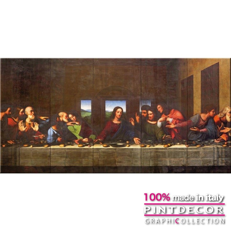 デコレーションパネル PINTDECOR グラフィコレクション L'ULTIMA CENA G6028|ピントデコール イタリア アートパネル ウォールデコ ペインティング 絵画 リビング インテリア デザイン モダン ホテルライク 新居 イタリア直輸入