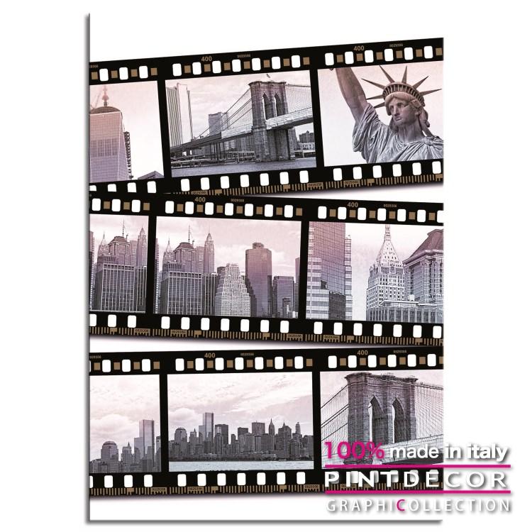 デコレーションパネル PINTDECOR グラフィコレクション SCATTI DI NEW YORK G7158|ピントデコール イタリア アートパネル ウォールデコ ペインティング 絵画 リビング インテリア デザイン モダン ホテルライク 新居 イタリア直輸入