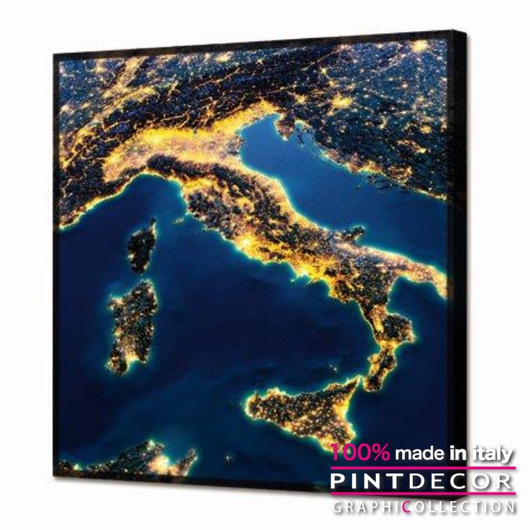 ルミナスパネル PINTDECOR グラフィコレクション ITALIA GL3444|ピントデコール イタリア アートパネル ウォールデコ ペインティング 蓄光 発光パネル ルミナス 絵画 リビング インテリア デザイン モダン ホテルライク 新居 イタリア直輸入