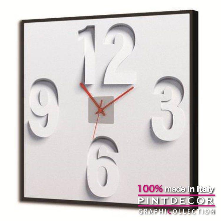 ルミナスクロック PINTDECOR グラフィコレクション 3-6-9-12 GL3512|ピントデコール イタリア アート クロック 壁時計 蓄光 ルミナス リビング インテリア デザイン モダン ホテルライク 新居 イタリア直輸入