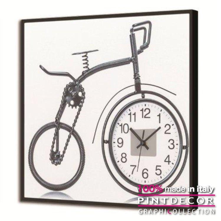 ルミナスクロック PINTDECOR グラフィコレクション RUOTA TIME GL3516|ピントデコール イタリア アート クロック 壁時計 蓄光 ルミナス リビング インテリア デザイン モダン ホテルライク 新居 イタリア直輸入