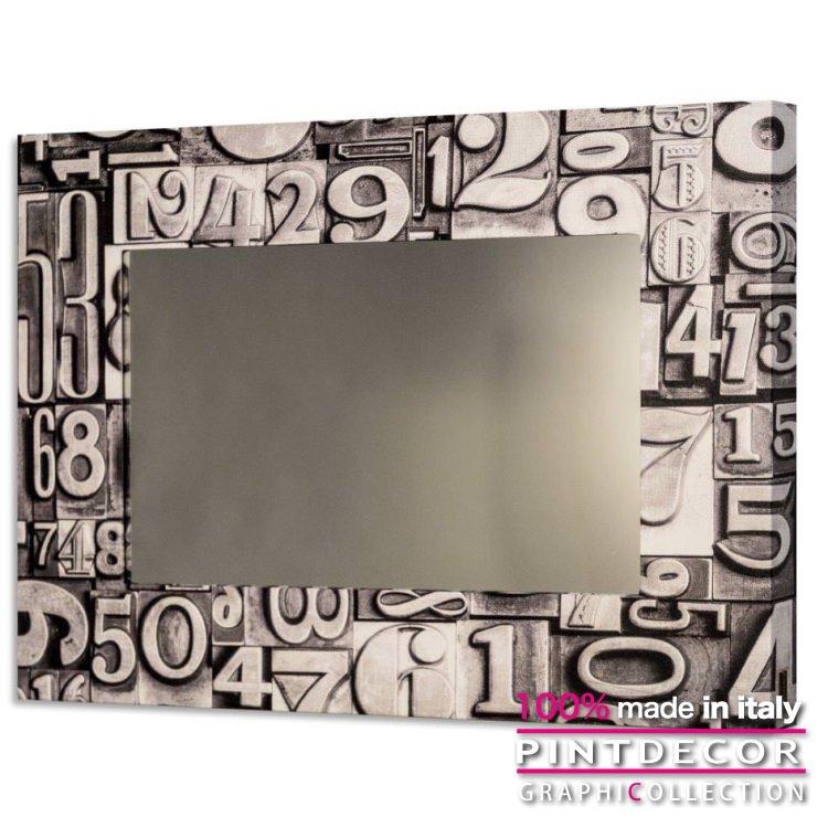 ウォールミラー PINTDECOR グラフィコレクション NUMERI GS4318|ピントデコール イタリア アート ルームミラー ミラー 壁掛け鏡 リビング インテリア デザイン モダン ホテルライク 新居 イタリア直輸入