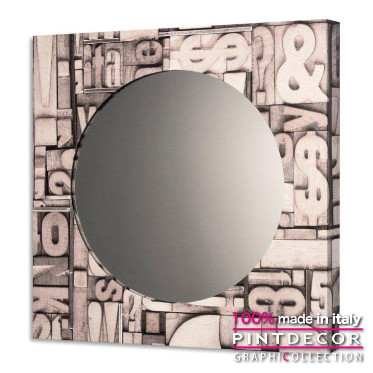 ウォールミラー PINTDECOR グラフィコレクション SCOLPITA GS4332|ピントデコール イタリア アート ルームミラー ミラー 壁掛け鏡 リビング インテリア デザイン モダン ホテルライク 新居 イタリア直輸入