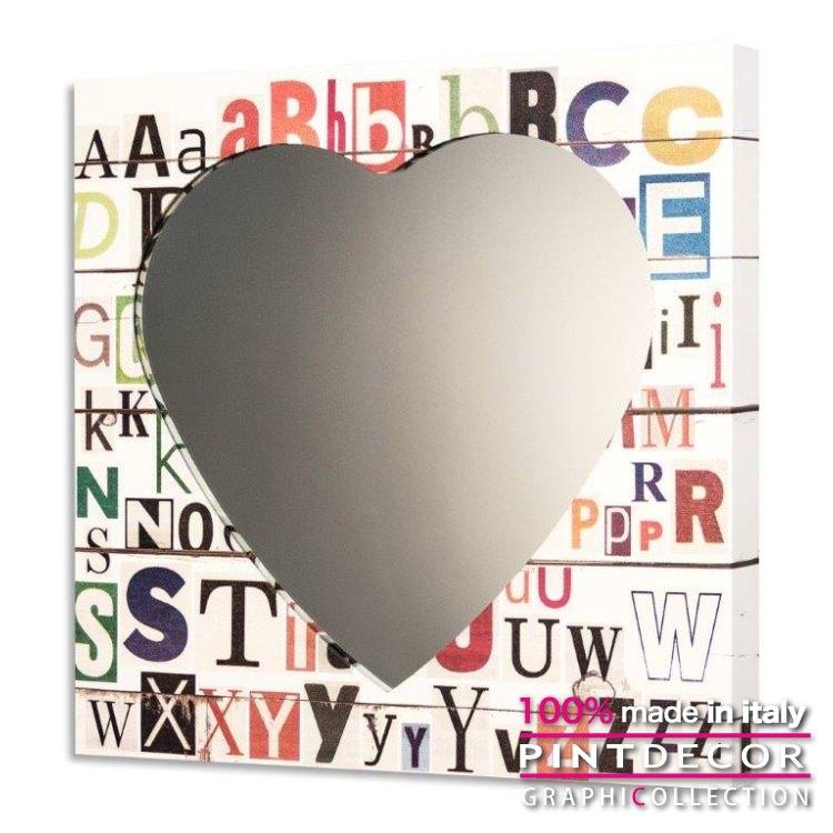 ウォールミラー PINTDECOR グラフィコレクション ALFABETO GS4382|ピントデコール イタリア アート ルームミラー ミラー 壁掛け鏡 リビング インテリア デザイン モダン ホテルライク 新居 イタリア直輸入