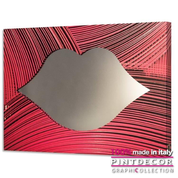 ウォールミラー PINTDECOR グラフィコレクション RIGATA GS4418|ピントデコール イタリア アート ルームミラー ミラー 壁掛け鏡 リビング インテリア デザイン モダン ホテルライク 新居 イタリア直輸入