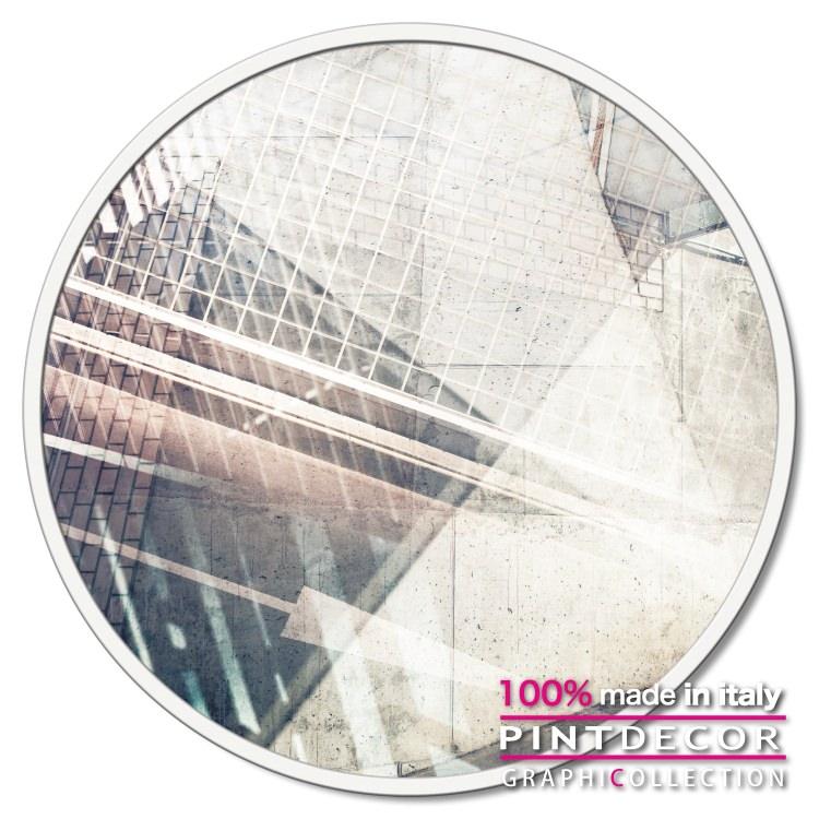 ラウンドパネル PINTDECOR グラフィコレクション LINEE INCORNICIATE GT6356|ピントデコール イタリア アートパネル ウォールデコ ペインティング 絵画 リビング インテリア デザイン モダン ホテルライク 新居 イタリア直輸入