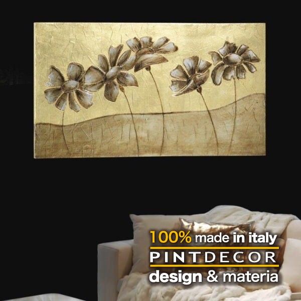 アートパネル|PINTDECOR PRATO ARGENTATO P2122 ピントデコール イタリア モダンアート リビング ダイナミック デコラティブ ミックステクスチャー 立体 ハンドメイド オブジェ ホテルライク 絵画 新居 近代アート サンドベージュ ゴールド
