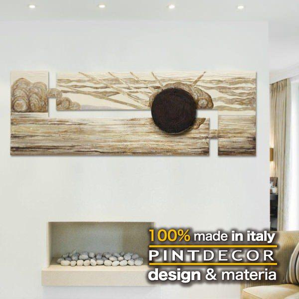 アートパネル|PINTDECOR TEMPORALE P2180 ピントデコール イタリア モダンアート リビング ダイナミック デコラティブ ミックステクスチャー 立体 ハンドメイド オブジェ ホテルライク 絵画 新居 近代アート