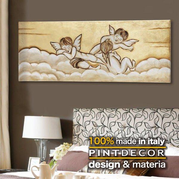 アートパネル|PINTDECOR ANGELI P2718 ピントデコール イタリア モダンアート リビング ダイナミック デコラティブ ミックステクスチャー 立体 ハンドメイド オブジェ ホテルライク 天使 大天使 絵画 新居